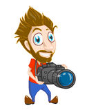 Funny photografer Royalty Free Stock Photo