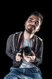 Funny photographer Stock Image