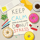 Funny phrases about stress. Royalty Free Stock Images