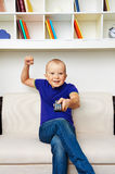 Funny picture with big baby Royalty Free Stock Photo