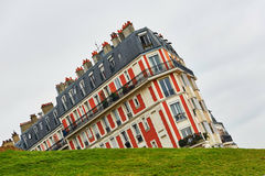 Funny picture of a building on Montmartre hill Stock Photography
