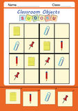 Funny picture sudoku for kids. Picture sudoku for kids, worksheet, homework critical thinking Royalty Free Stock Images