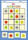 Funny picture sudoku for kids vector illustration