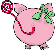 Funny pig - back side. Vector illustration of pig from back side Stock Photos