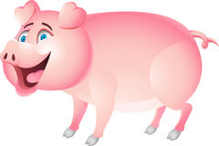 Funny pig cartoon Royalty Free Stock Photo