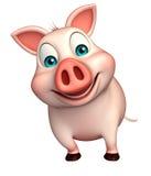 funny  Pig cartoon character Stock Photos