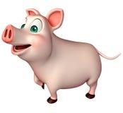 funny  Pig cartoon character Royalty Free Stock Photos