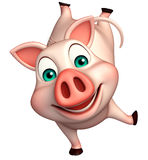 funny  Pig cartoon character Stock Images