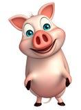 funny  Pig cartoon character Stock Photo