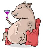 Funny pig Royalty Free Stock Images