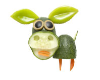 Funny pig made of vegetables Royalty Free Stock Photography