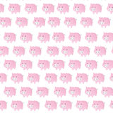 Funny pig seamless pattern Royalty Free Stock Photography