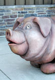 Funny pig statue Stock Photo