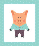 Funny piggy Royalty Free Stock Images