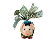 Funny piggy bank Royalty Free Stock Images