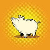 Funny piggy Bank. Pop art retro vector illustration. Money and Finance Stock Images