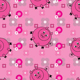 Funny pigs background Royalty Free Stock Image