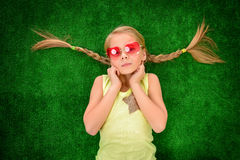Funny pigtails Royalty Free Stock Photos