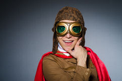 Funny pilot with goggles Royalty Free Stock Image