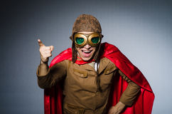 Funny pilot with goggles Royalty Free Stock Photo