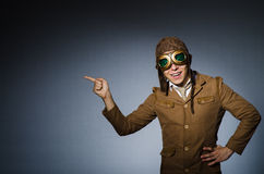 Funny pilot with goggles Royalty Free Stock Photography