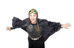 Funny pilot with goggles isolated Royalty Free Stock Photos