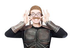 Funny pilot with goggles isolated Royalty Free Stock Photo