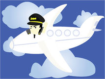 The funny pilot Royalty Free Stock Photo