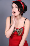 Funny pin-up girl Royalty Free Stock Photo