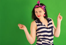 Funny pin-up girl Royalty Free Stock Images