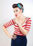 Funny pin-up woman Royalty Free Stock Image