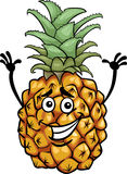 Funny pineapple fruit cartoon illustration Royalty Free Stock Images