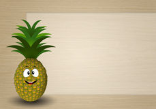 Funny pineapple Royalty Free Stock Photo