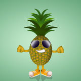 Funny pineapple Stock Photography