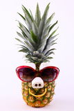 Funny Pineapple with Sunglasses Royalty Free Stock Images