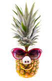 Funny Pineapple with Sunglasses Royalty Free Stock Photo