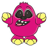 Funny pink monster r Stock Photography
