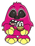 Funny pink monster Royalty Free Stock Image