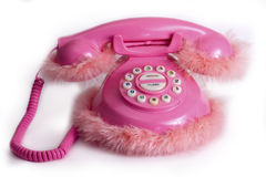 Funny pink phone Stock Photo