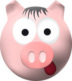 Funny pink pig Royalty Free Stock Images