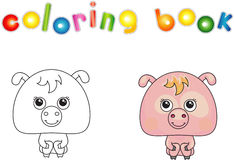 Funny pink pig Royalty Free Stock Image