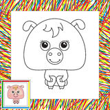 Funny pink pig Stock Images