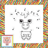 Funny pink pig Stock Image