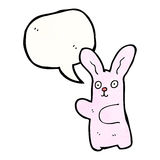 Funny pink rabbit cartoon Royalty Free Stock Image