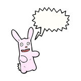 Funny pink rabbit cartoon Stock Photography