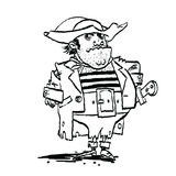 Funny pirate captain Stock Images
