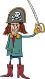 Funny pirate cartoon illustration Stock Photography