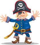 Funny pirate cartoon illustration Royalty Free Stock Images