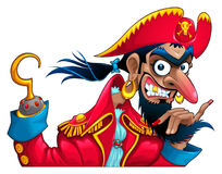 Funny pirate character Stock Images