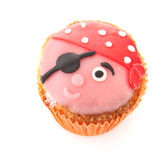 Funny pirate cupcake Royalty Free Stock Image
